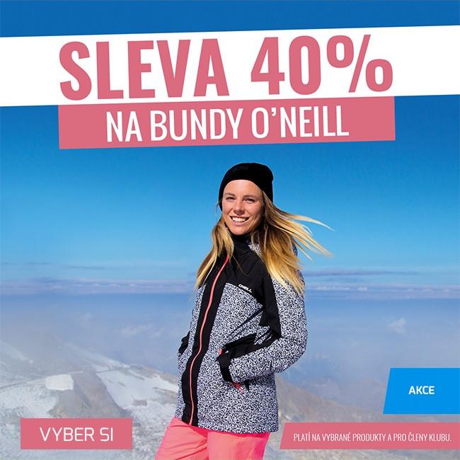Sleva 40% na bundy O'Neill