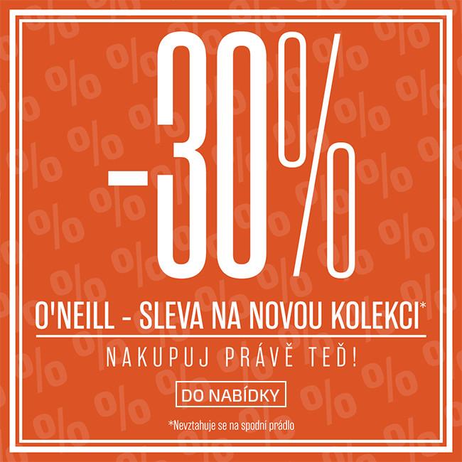 30% sleva na novou kolekci O'Neill