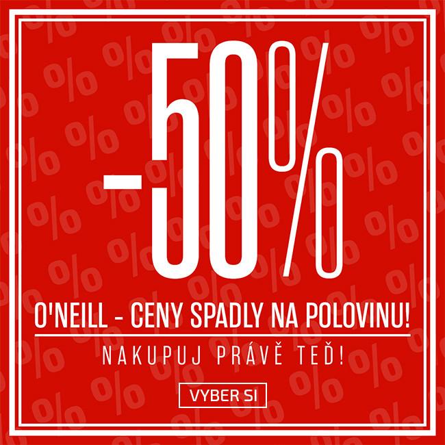 50% sleva na O'Neill