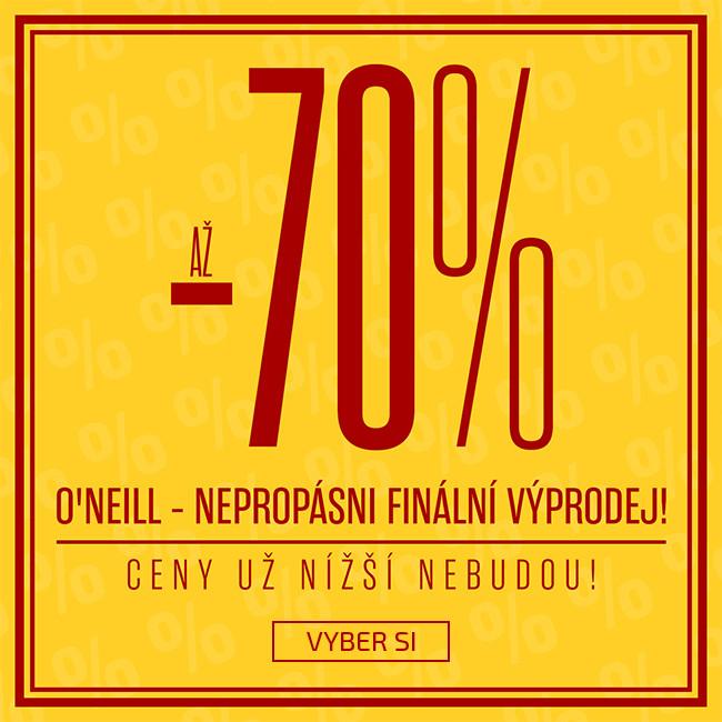 O'Neill slevy až 70%