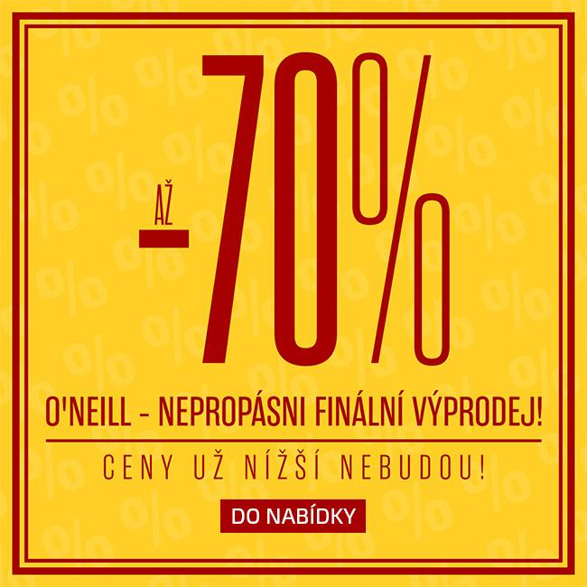 O´Neill slevy až 70%