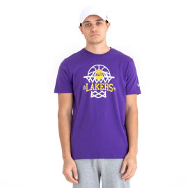 New Era LOS ANGELES LAKERS NET LOGO TEE