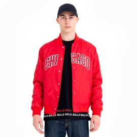 New Era CHICAGO BULLS TEAM WORDMARK VARSITY JACKET