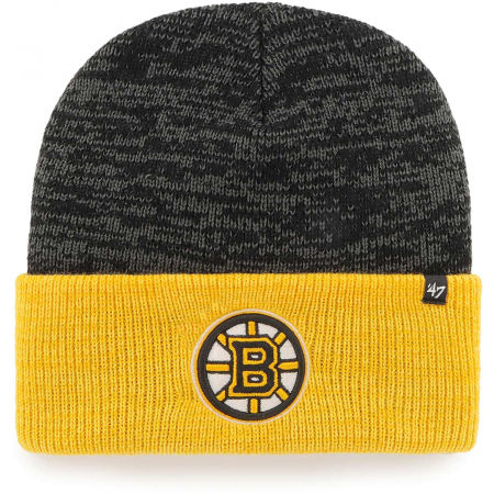 47 NHL BOSTON BRUINS TWO TONE BRAIN FREEZE '47 CUFF KNIT BLK