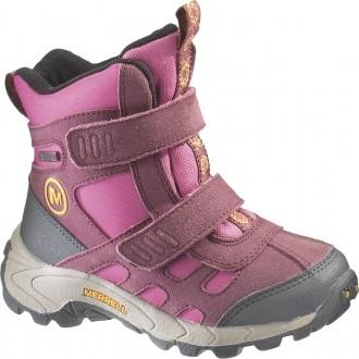 Dětská zimní obuv MOAB POLAR MID STRAP růžová EUR 34.5 (3.5 US junior)