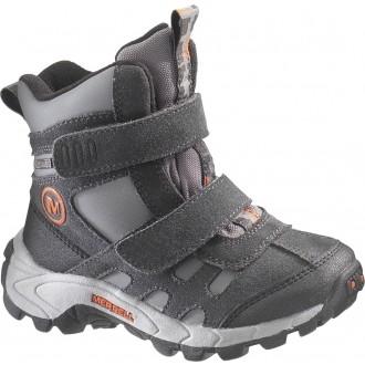 Dětská zimní obuv MOAB POLAR MID STRAP černá EUR 32 (1 US junior)