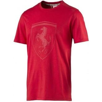 Pánské triko FERRARI SHIELD TEE červená M
