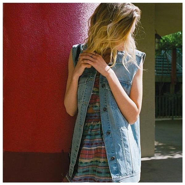 DISORDER VEST - Dámská jeans vesta