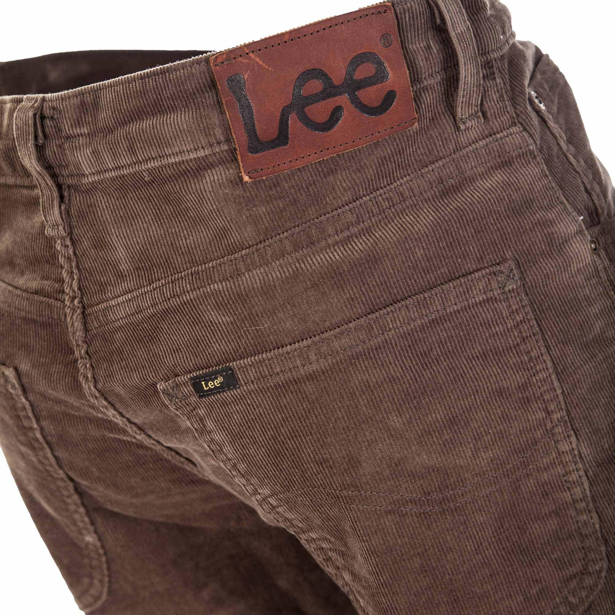 BROOKLYN STRAIGHT OLIVE GREEN - Pánské manšestrové kalhoty 8478310ca3