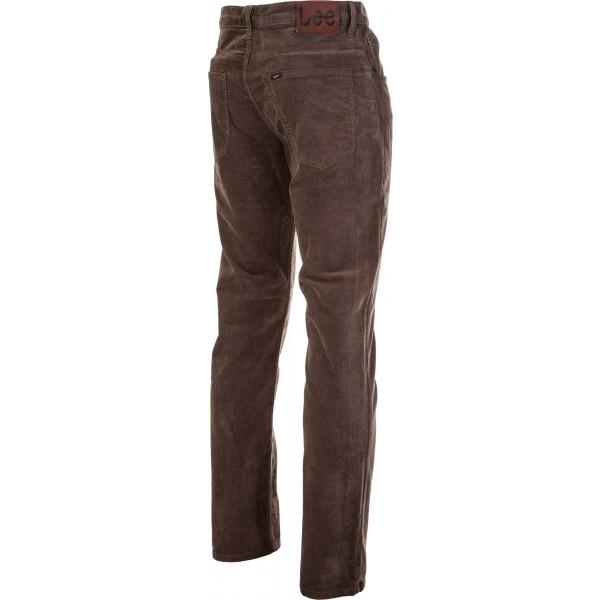 BROOKLYN STRAIGHT OLIVE GREEN - Pánské manšestrové kalhoty