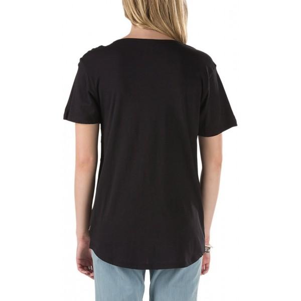 CHECKER CHERRY POCKET TEE - Stylové dámské tričko