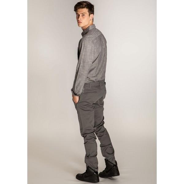 CHINO GREY - Pánské kalhoty