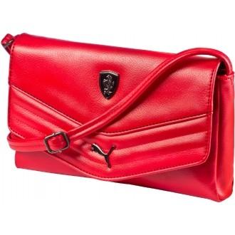 Luxusní dámská kabelka FERRARI LS SMALL SATCHEL červená OSFA