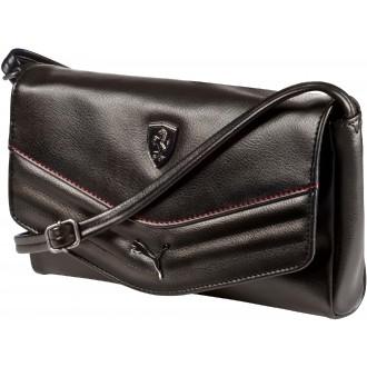 Luxusní dámská kabelka FERRARI LS SMALL SATCHEL černá OSFA