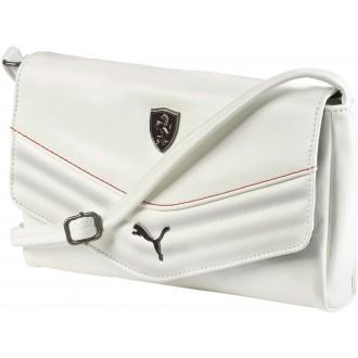 Luxusní dámská kabelka FERRARI LS SMALL SATCHEL bílá OSFA