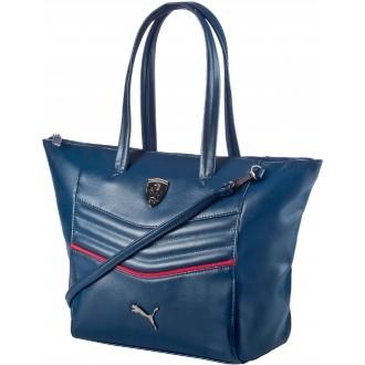 Luxusní dámská kabelka FERRARI LS HANDBAG modrá OSFA