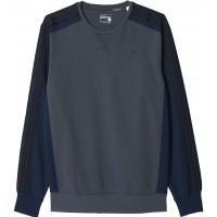 adidas SPORT ESSENTIALS 3-STRIPES CREW FLEECE