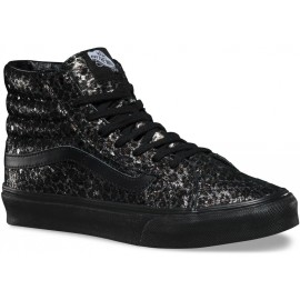 Vans U SK8-HI SLIM (Metallic Leopard) Black/Black