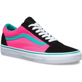 Vans U OLD SKOOL (BRITE) Black/Neon Pink