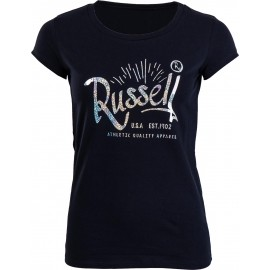 Russell Athletic CREW NECK TEE WITH RUSSELL PRINT