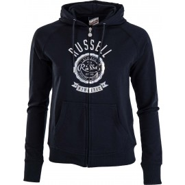 Russell Athletic ZIP TROUGH HOODY WITH ROSETTE PRINT