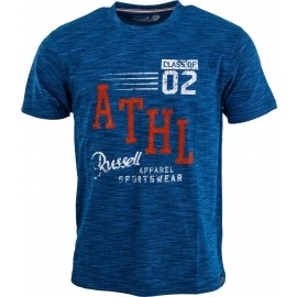 Russell Athletic CREW NECK T-SHIRT WITH DISTRESSED