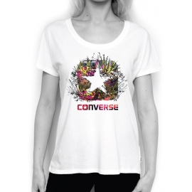 Converse PHOTO SKETCH FILL BOX STAR FEMME TEE
