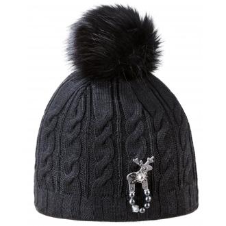 Dámská zimní čepice s jelení broží Deers