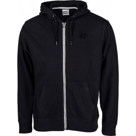Russell Athletic ZIP THROUGH HOODY WITH EMBROIDERED SLANTED 'R'