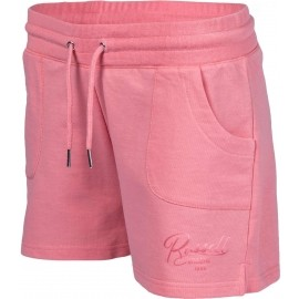 Russell Athletic SHORTS WITH TONAL SATIN SCRIPT TRANSFER PRINT