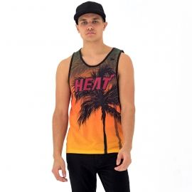 New Era NE NBA MIAMI HEAT COASTAL HEAT TANK