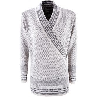 Dámský zavinovací svetr