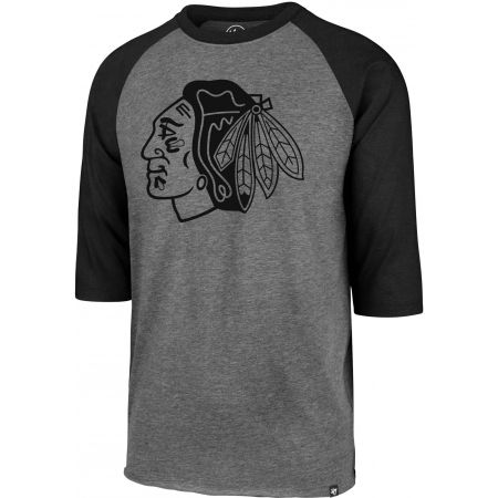 47 NHL CHICAGO BLACKHAWKS IMPRINT 47 CLUB RAGLAN TEE