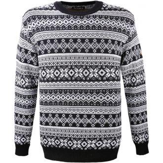 Pletený celovzorovaný svetr