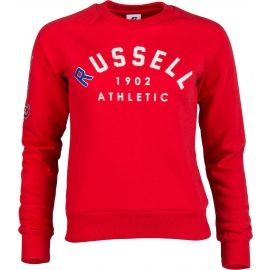 Russell Athletic BADGED-CREWNECK RAGLAN SWEATSHIRT