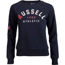 Russell Athletic BADGED-CREWNECK RAGLAN SWEATSHIRT