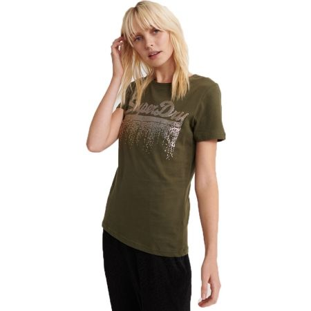 Superdry VINTAGE LOGO METALLIC CASCADE ENTRY TEE